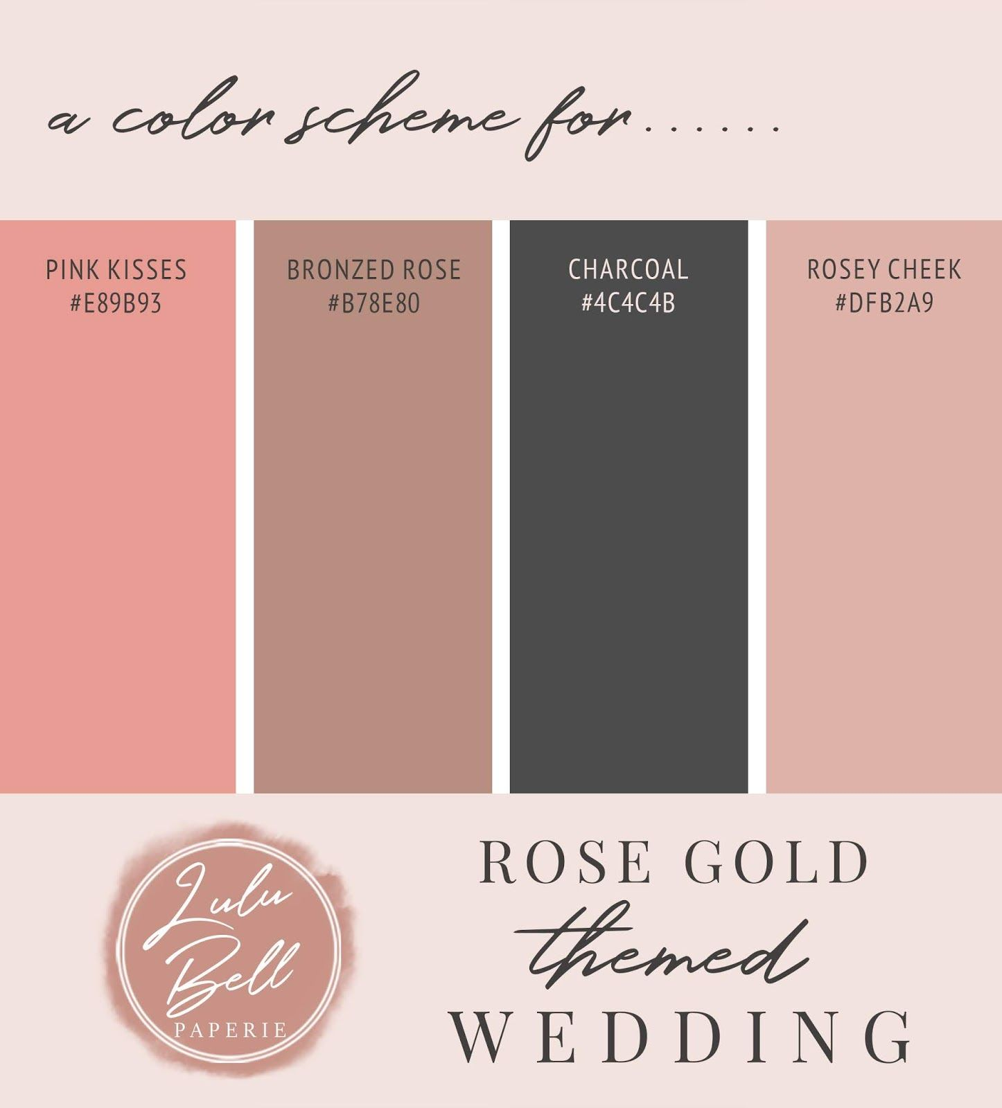 Pink Rose Gold Glitter and Sparkle Wedding Collection - A Rose Gold Themed  Wedding Color Scheme … | Color palette pink, Rose gold color palette, Rose  gold painting