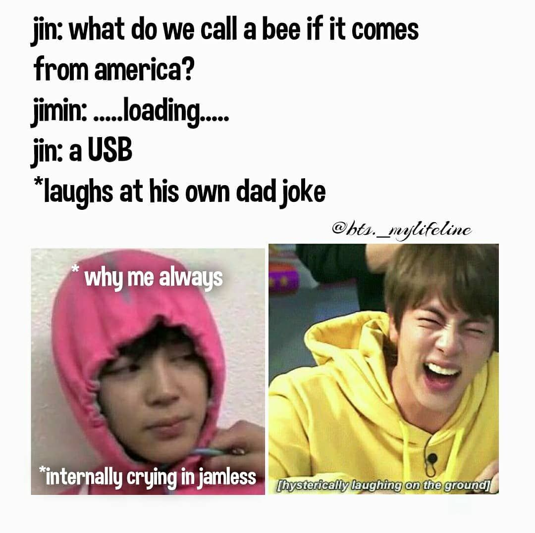 Photo Shared By Bts My Life Line On May 06 2020 Tagging Bts Bighitofficial Bts Vante Bts Indianarmy Bts Memes Hilarious Jin Dad Jokes Bts Funny Moments