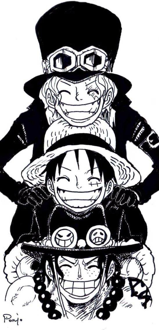 One Piece Asl One Piece One Piece Ace Sabo Luffy Manga