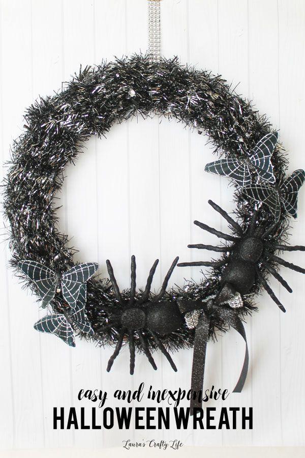Halloween Wreath Pound shops, Wreaths and Easy halloween