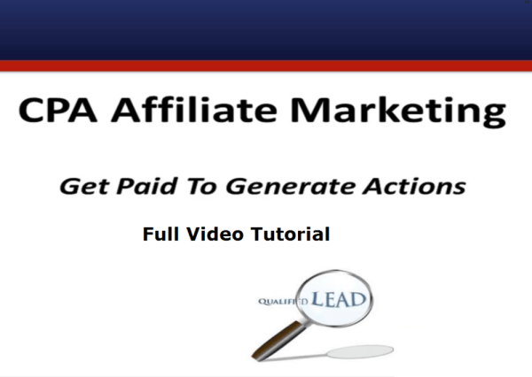 Affiliate Marketing Complete Video Tutorial With Images