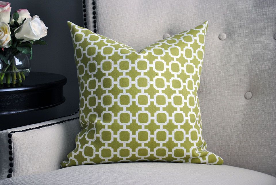 olive green pillows. Green Pillow Geometric Pillows Cushion Cover 18 X18 Olive Throw \u0026 White (16.00 USD) By VividHues