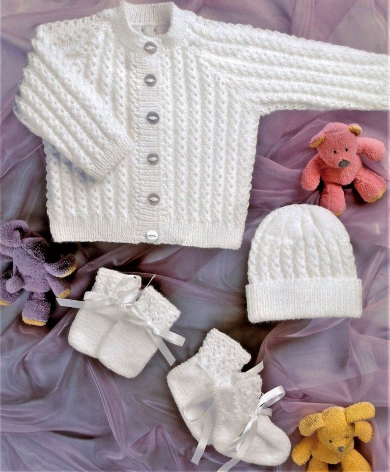 Nearly Free White Ribbed Set For Baby Knitting Pattern Etsy Baby Girl Knitting Patterns Baby Knitting Patterns Free Baby Boy Knitting Patterns