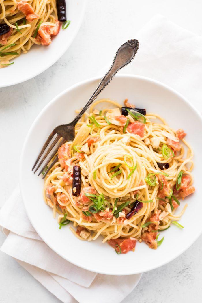 Kung Pao Spaghetti all Vodka Recipe { Healthy Eats } Pinterest
