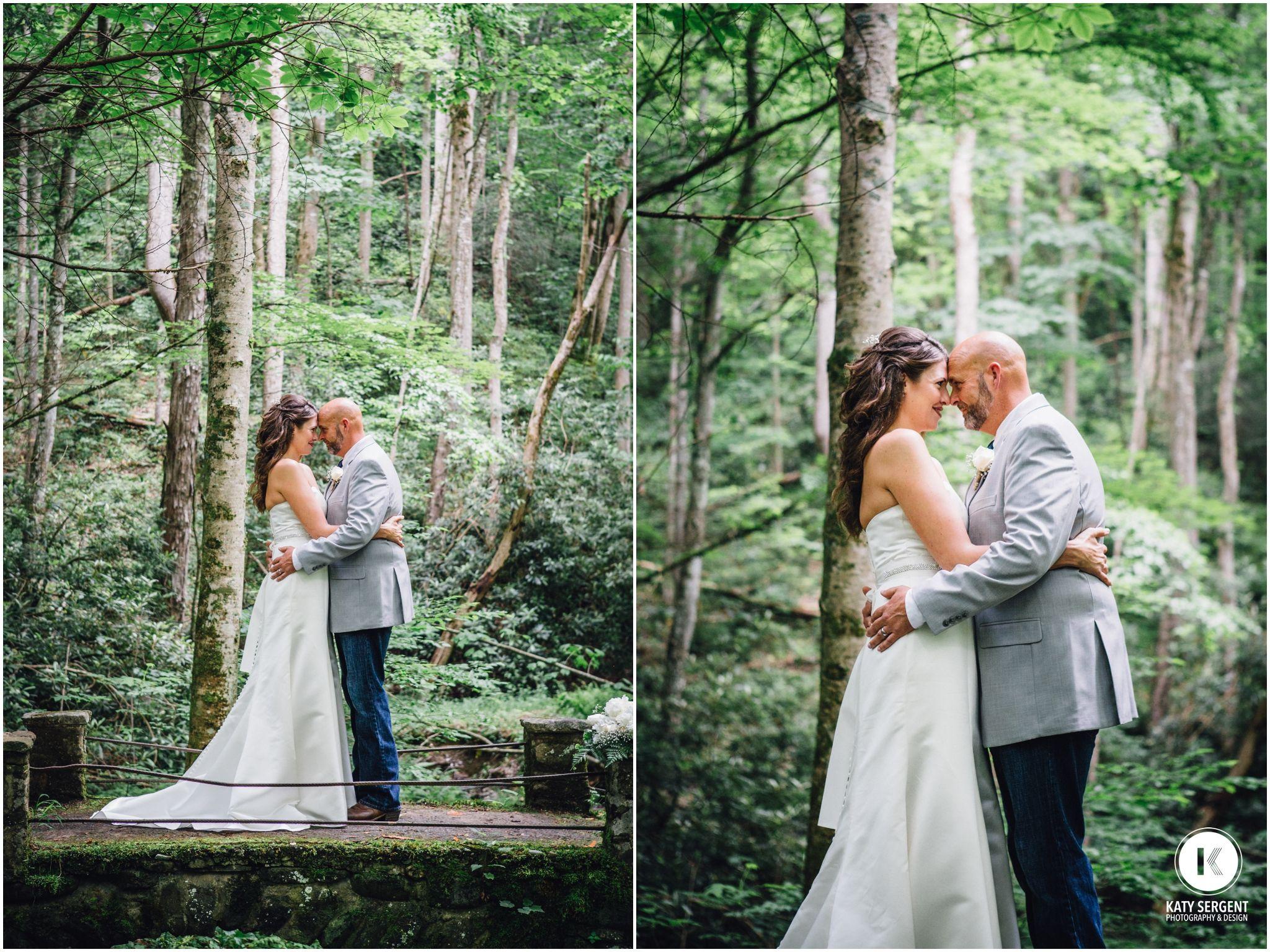 Amy's wedding dress  Gatlinburg TN Rob u Amyus Smoky Mountain Wedding  Gatlinburg