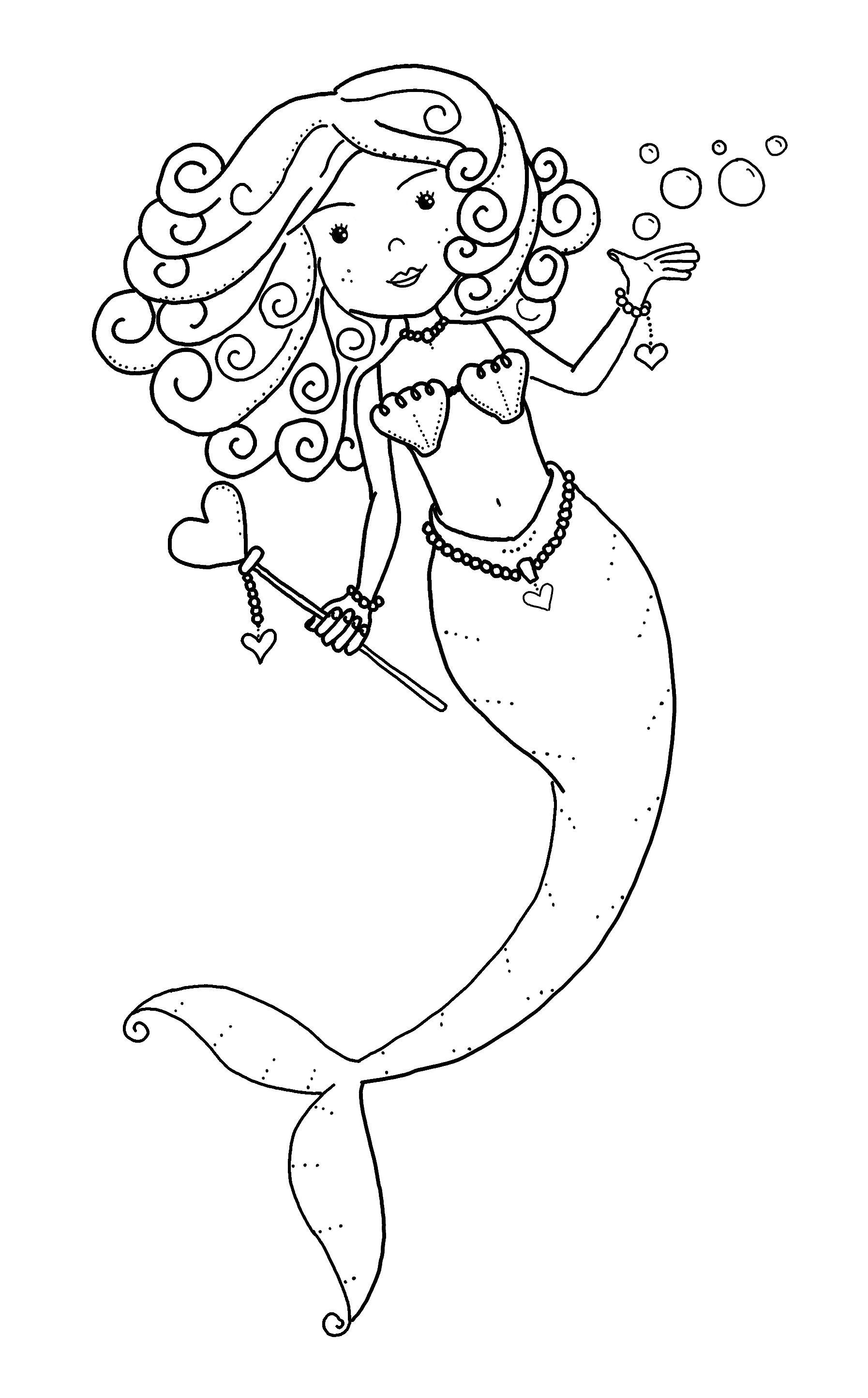 Pin By Heather Gaston On Digital Stamps Mermaid Coloring Pages Mermaid Coloring Heart Coloring Pages