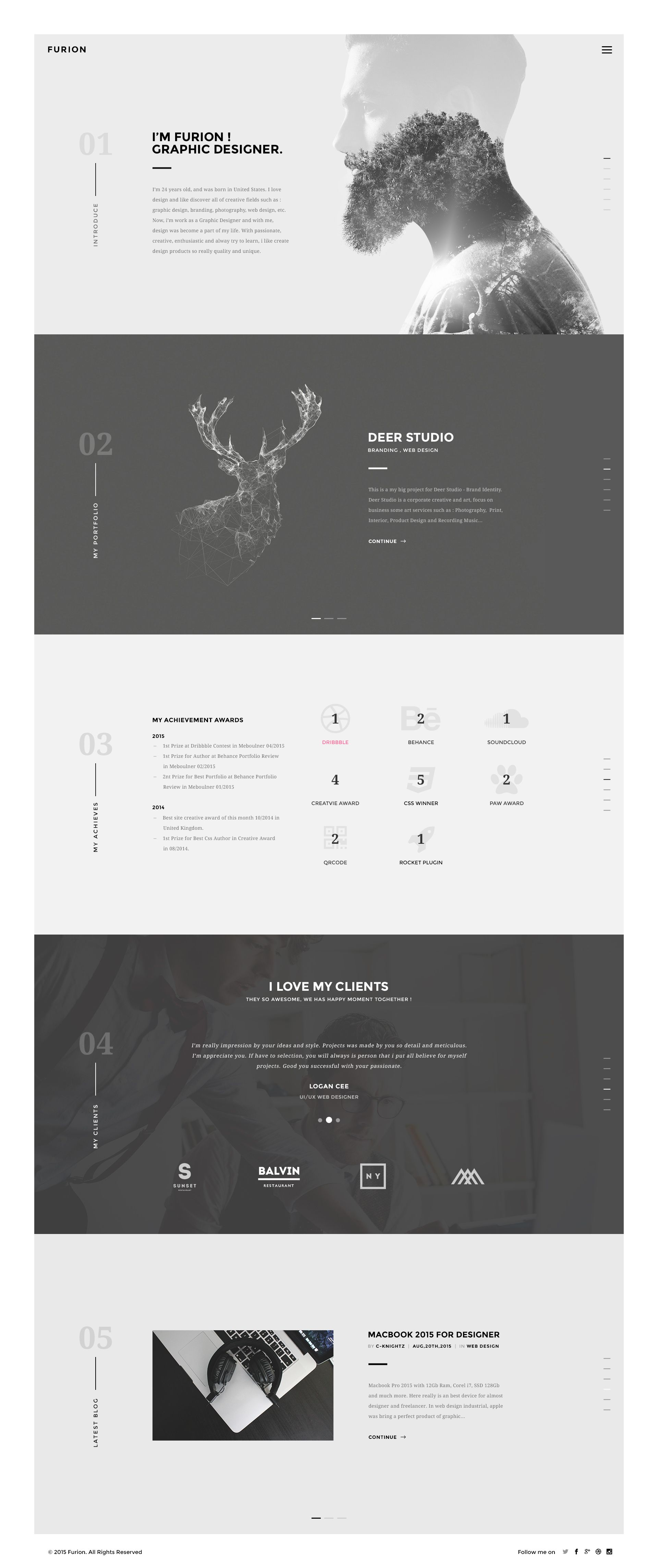 Hello Guys Continue With Project Furion Creative Wp Themes Here Is My New Shot An Other Home Page Web Design Portfolio Design Website Design Inspiration