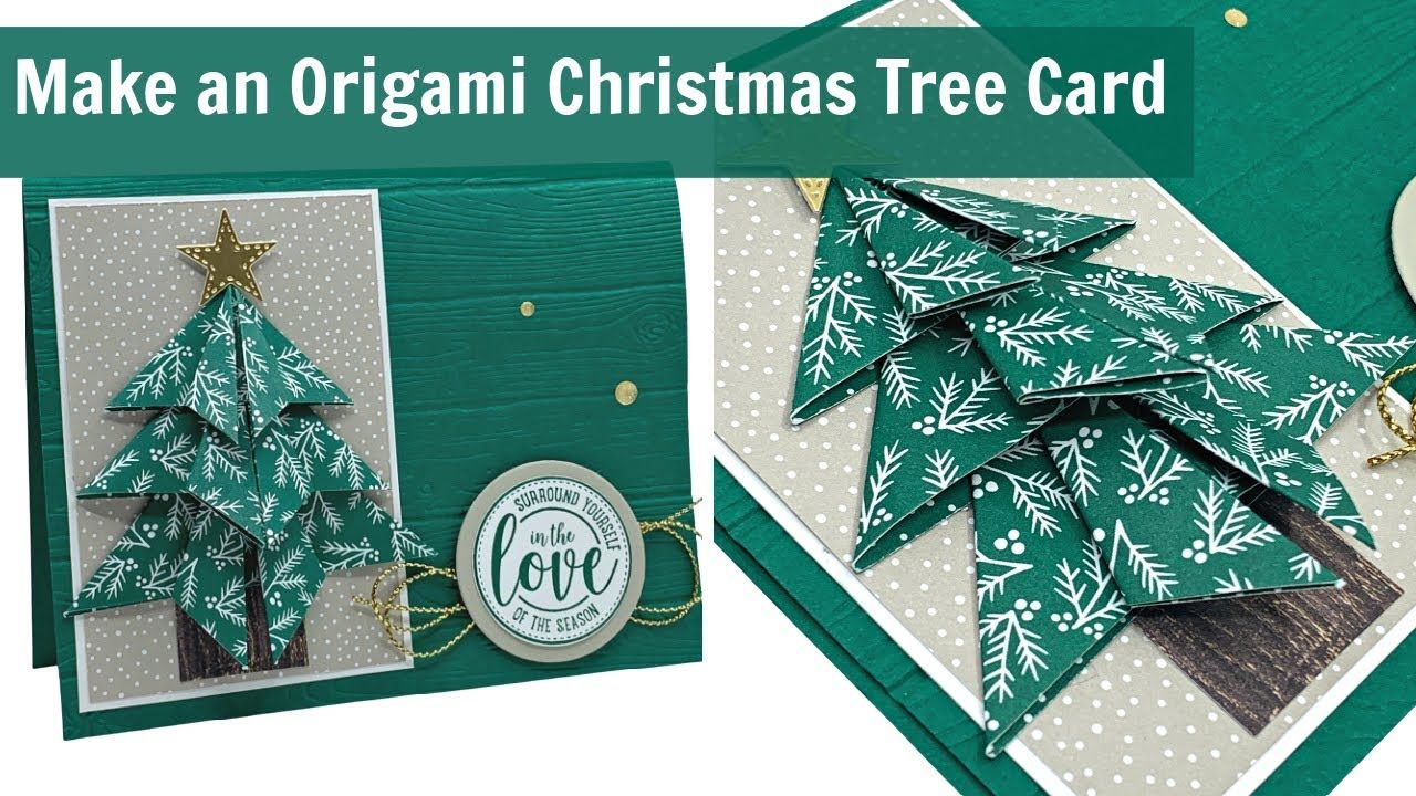 I Found A Fantastic Way To Make An Origami Christmas Tree Card Youtube Origami Christmas Tree Card Origami Christmas Tree Christmas Tree Cards
