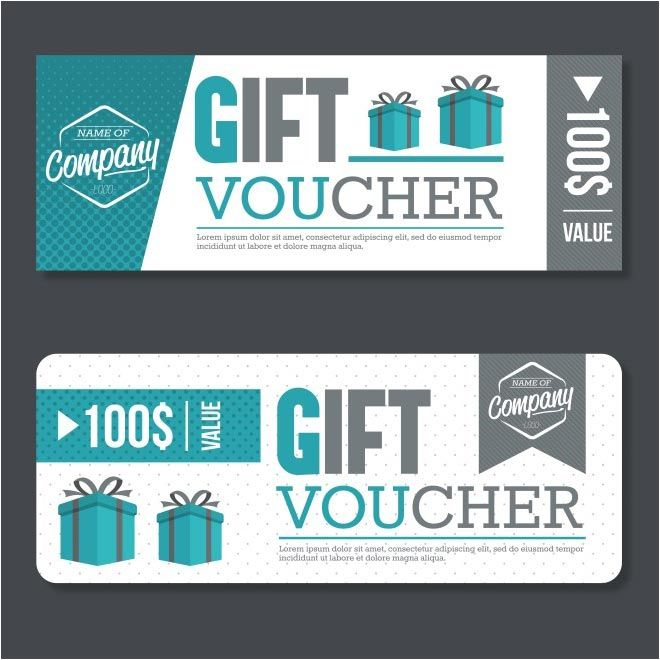 free vector 100$ Gift Voucher business cards   wwwcgvector - gift cards for business