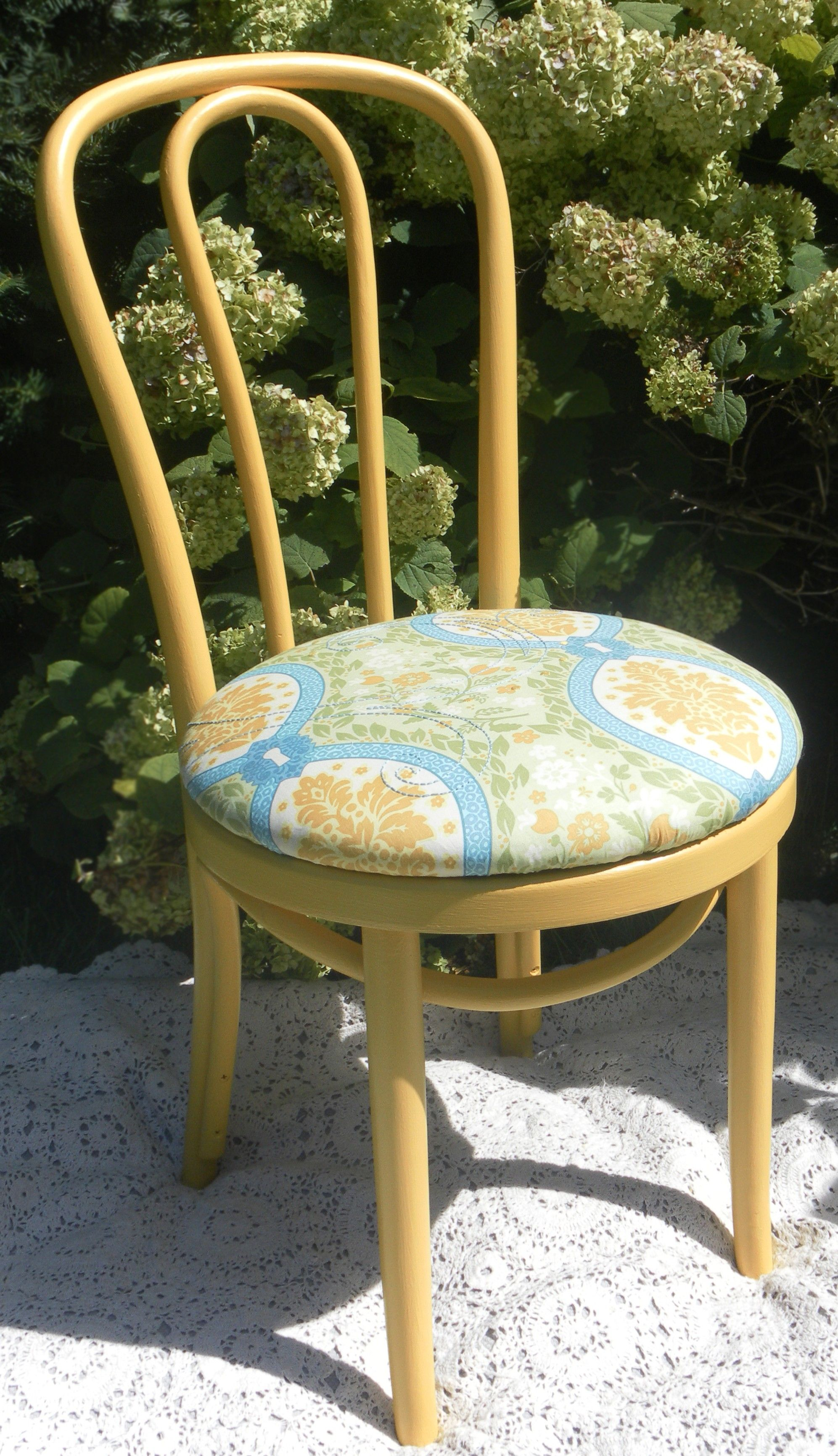 ... Bent Cane Bistro Chairs $60   Shorewood  Http://furnishly.com/catalog/product/view/id/1435/s/yellow Bent Cane Bistro  Chairs With Hand Embroidery Detail/