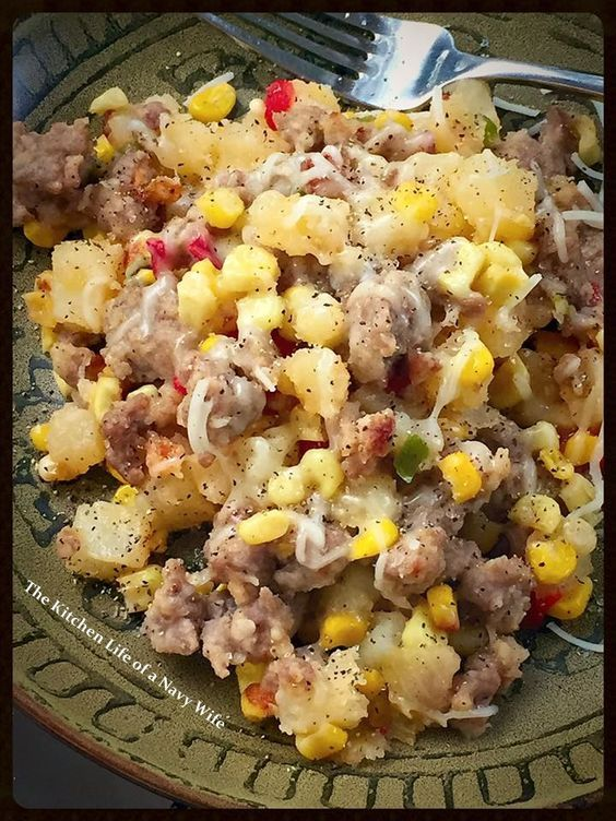 'Bratwurst Hash Dinner'   Source: Adapted from Taste of Home     Ingredients     4 uncooked Bratwurst, casings removed   1 medium ...
