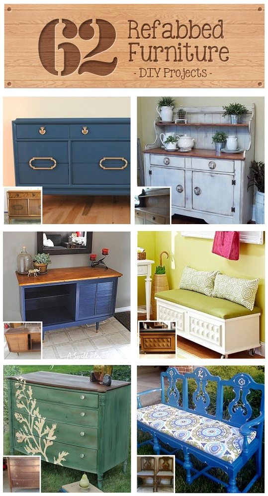 diy furniture refinishing projects. 62 refabbed furniture projects, curated by recaptured charm featured on funky junk interiors diy refinishing projects pinterest