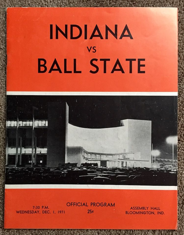 1971 Indiana v Ball State Basketball Program by ...