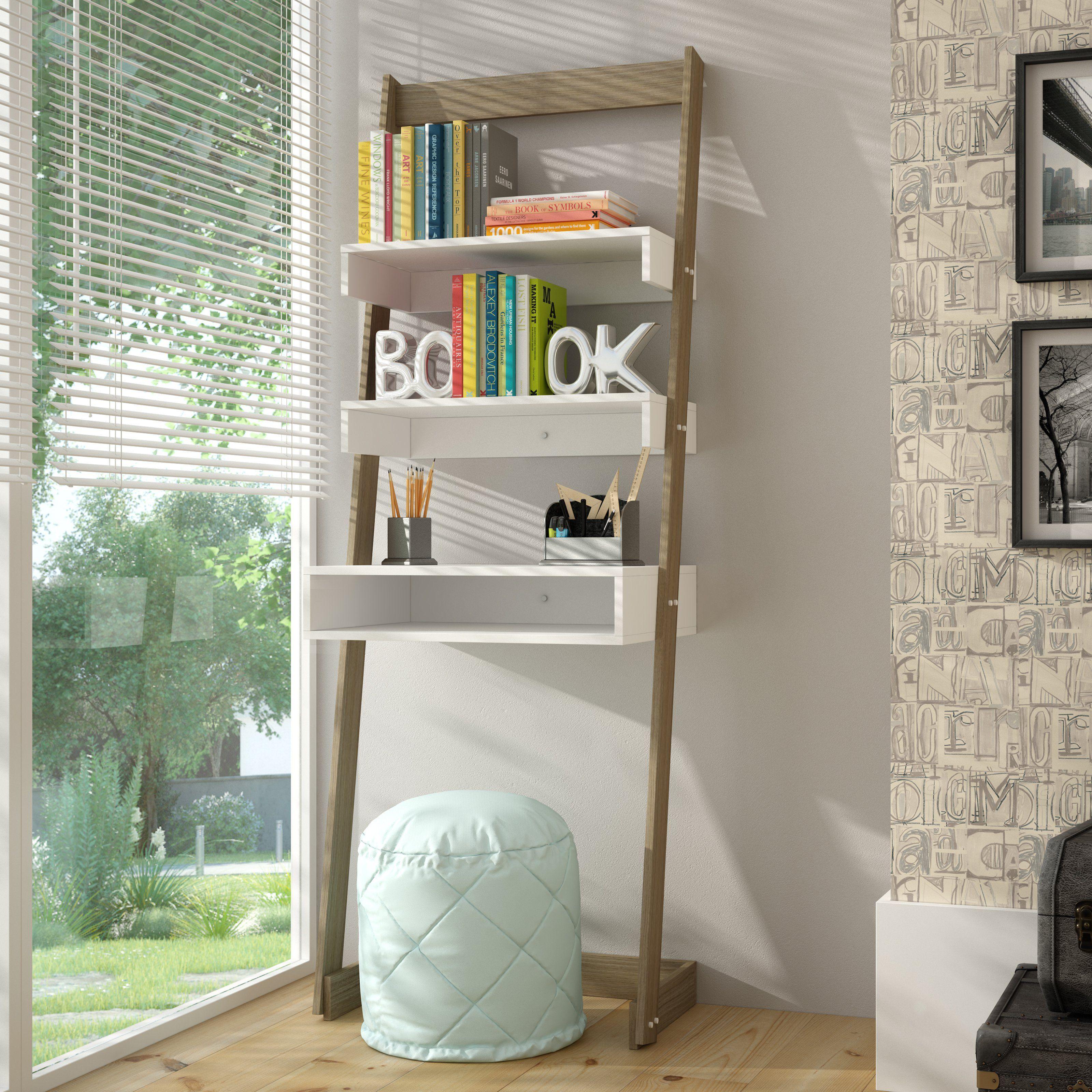 Manhattan comfort carpina ladder desk bookcase from hayneedle