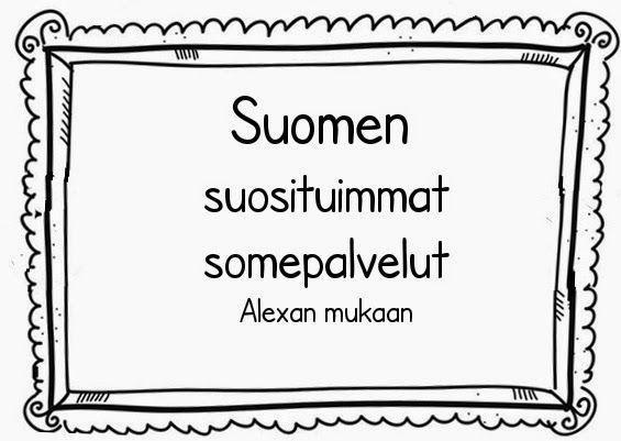 Piilotettu aarre: Suomen suosituimmat nettisivut, tammikuu 2014 vs tammikuu 2015