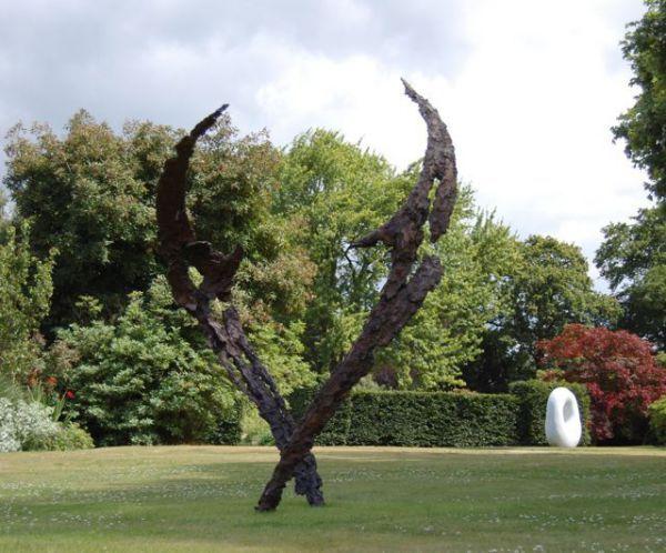 bronze sculpture by sculptor lorne mckean titled space dance tall sculptures for salegarden