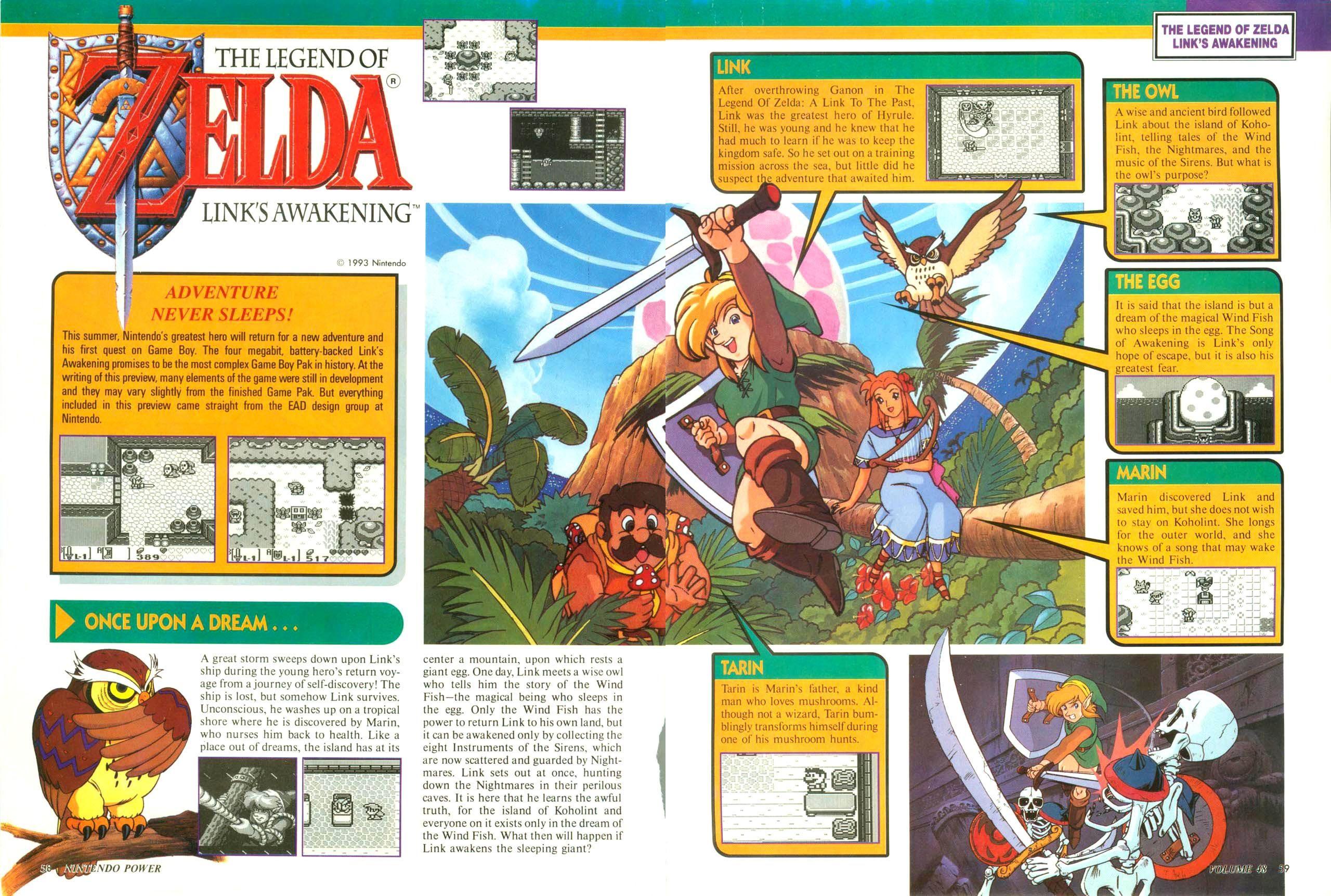 Legend Of Zelda Link S Awakening From Issue 50 Of