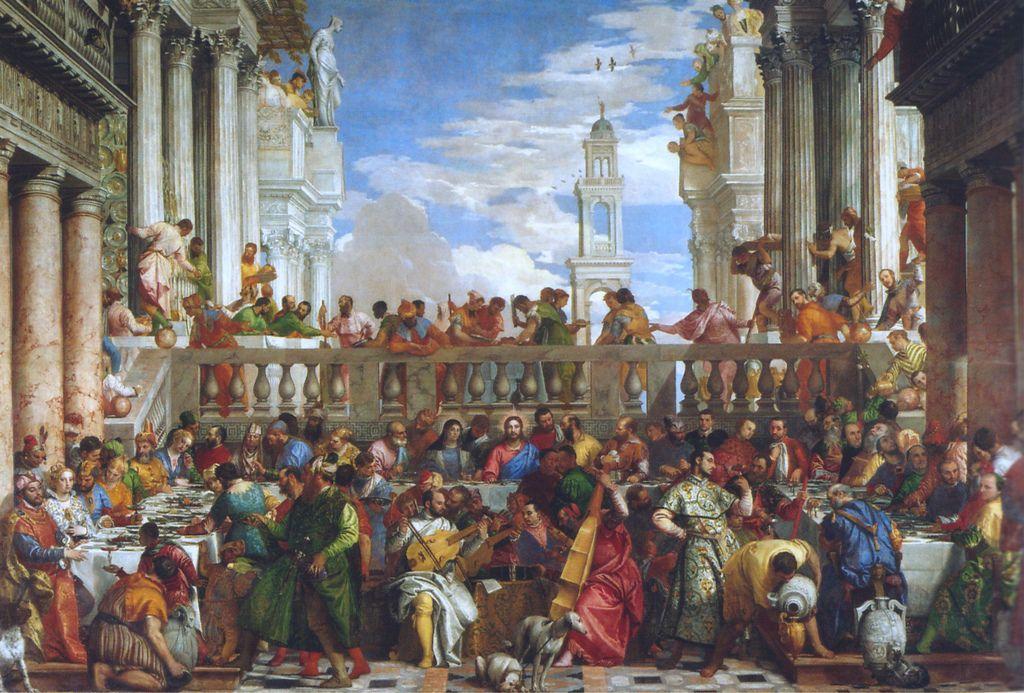 Paris Musee Du Louvre Hochzeit Zu Kana Von Paolo Veronese The Wedding At Cana Renaissance Paintings Renaissance Art Baroque Painting