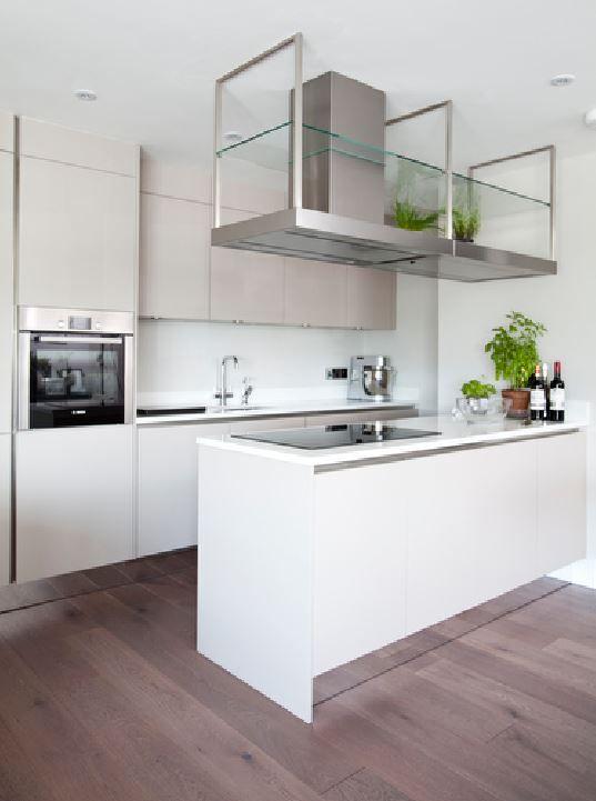 Download Wallpaper White Plinth For Kitchen