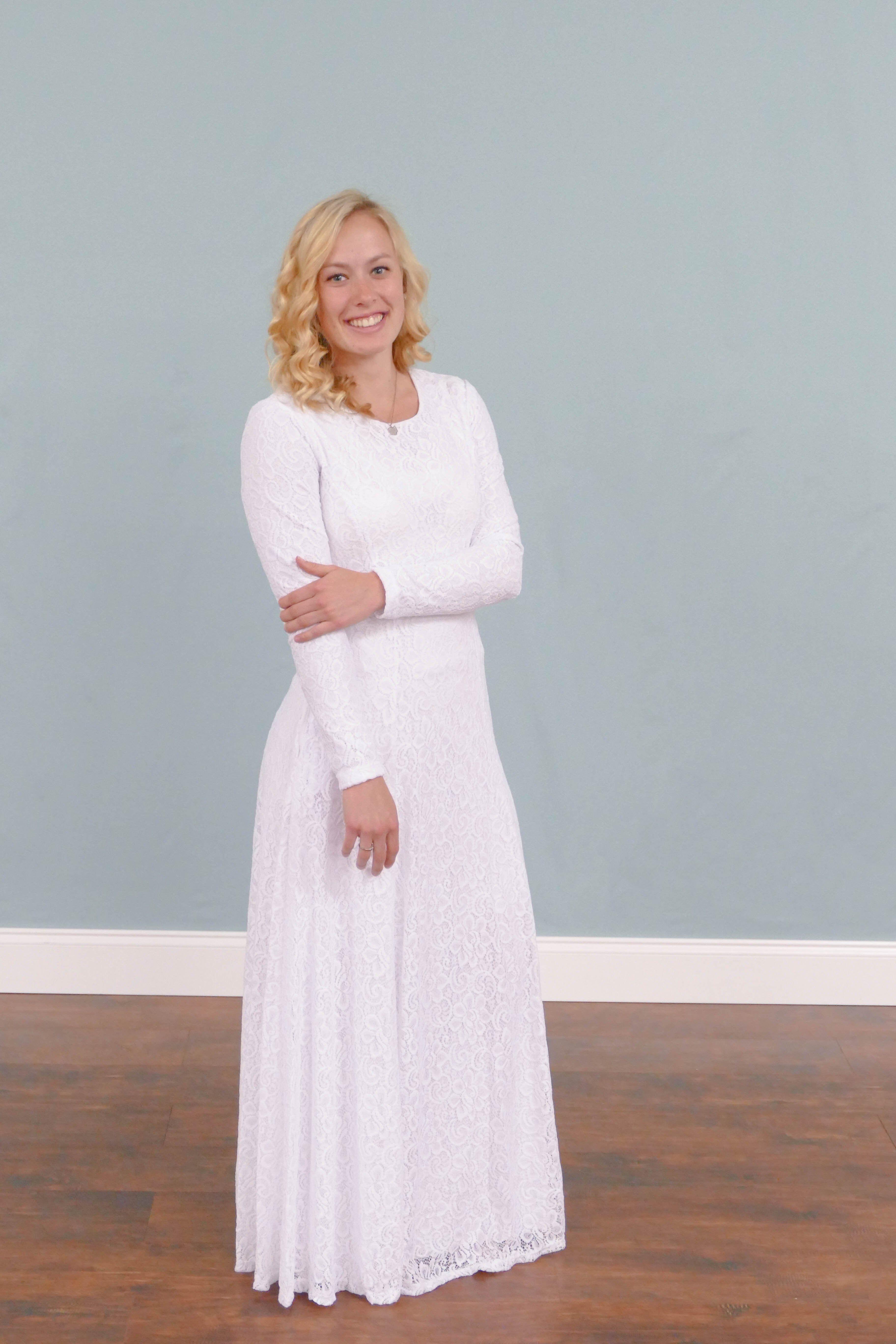 Laurice Temple Dress Temple Dress Modest White Dress Lds Temple Dress [ 5472 x 3648 Pixel ]