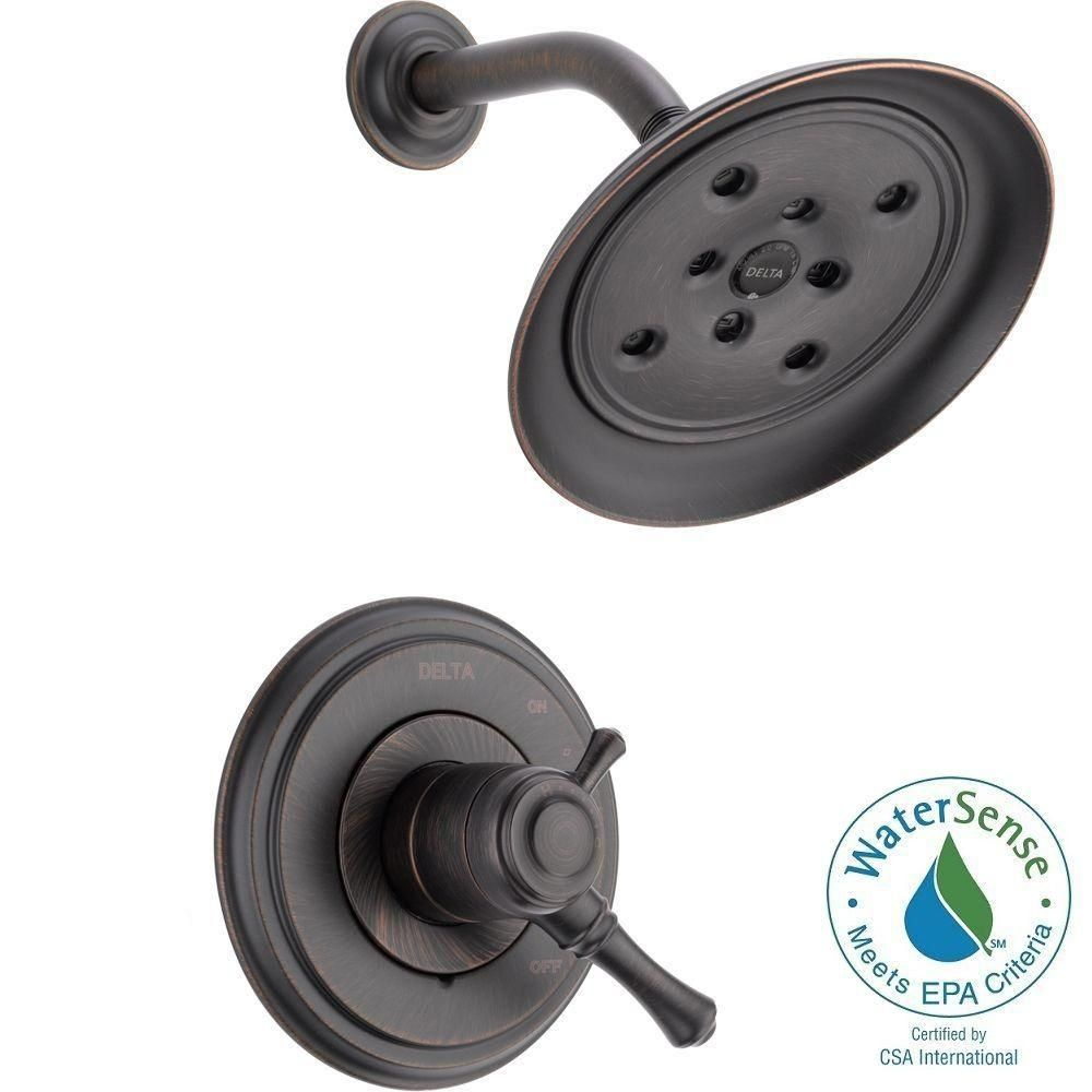 Delta Cidy 1 Handle Shower Only Faucet Trim Kit In Venetian Bronze Valve Not Included