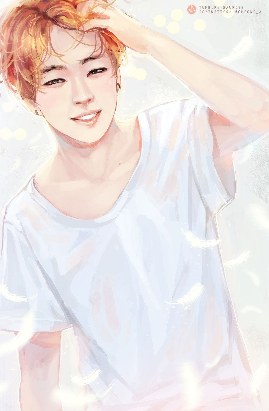 Jimin 'Run' Fanart not my art credit to the artist