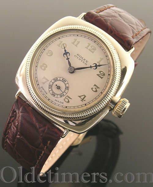 7da4bbcfcbf An early 9ct gold cushion vintage Rolex Oyster watch, 1920s ...