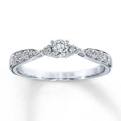 Diamond Promise Ring 1 4 Ct Tw Round Cut 10k White Gold