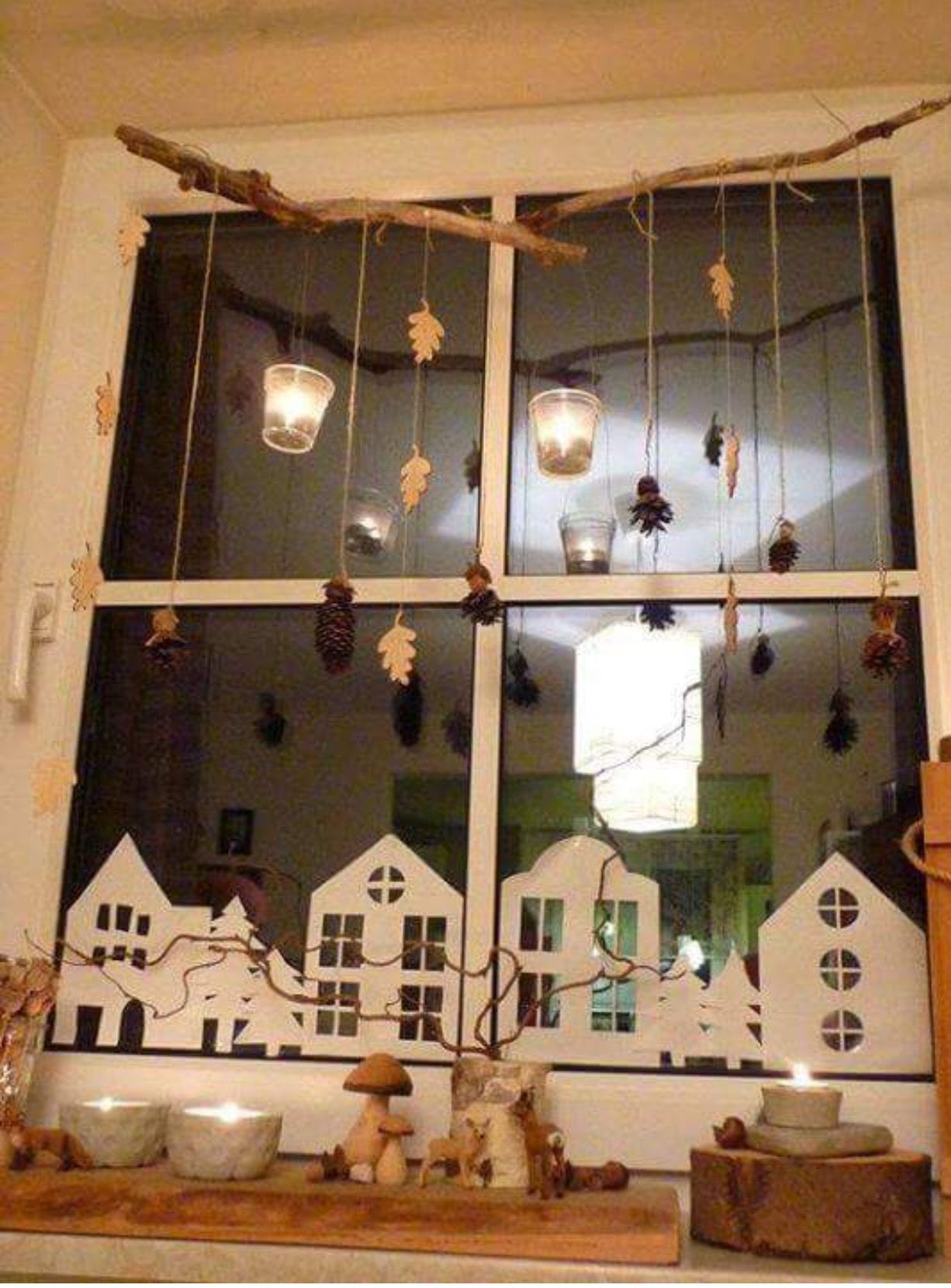 Window decor with paper cutouts Christmas Pinterest Christmas - halloween window decor