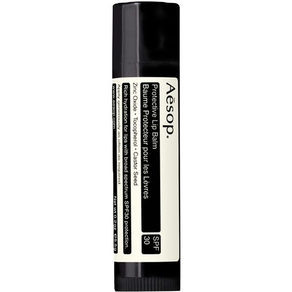 Aesop Protective Lip Balm SPF 30 ($20) ❤ liked on Polyvore featuring beauty products, skincare, lip care, lip treatments, beauty, fillers, makeup, lips, cosmetics and lip treatment