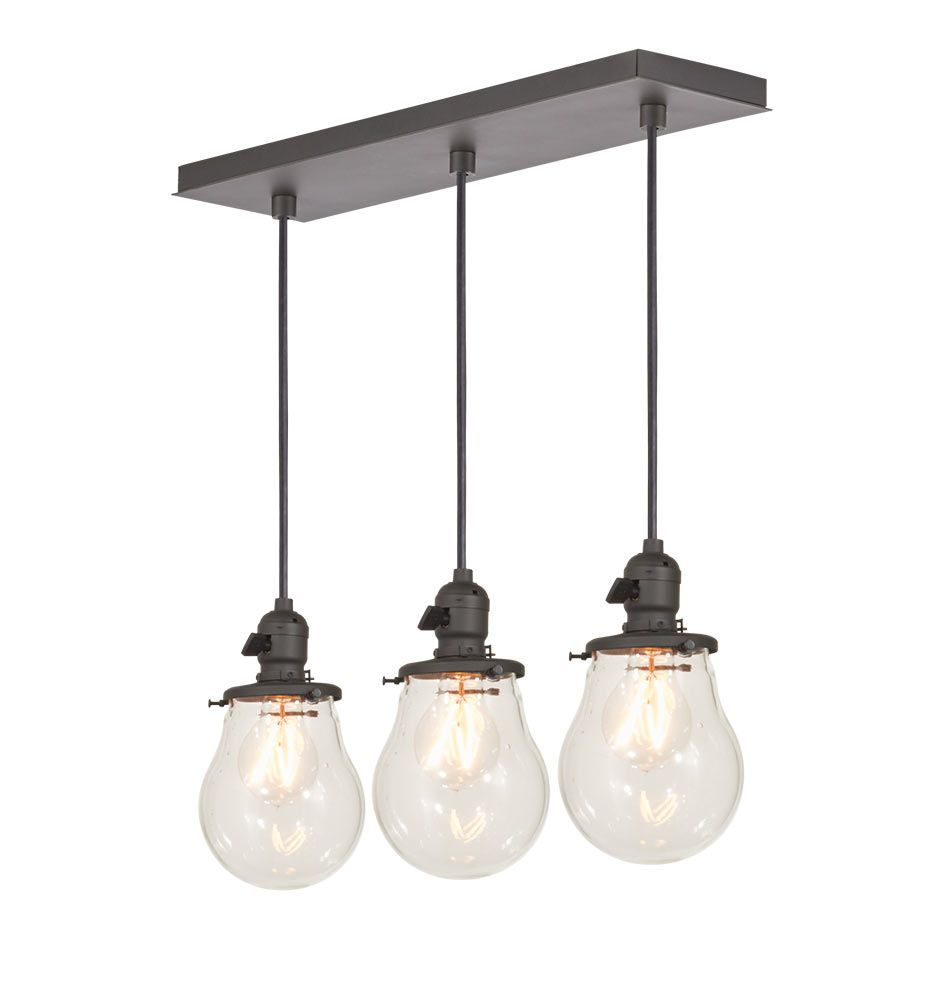 Kitchen baltimore 3 light multipendant 20in rectangle straight drop a0269