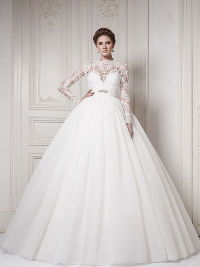 Ball Gown Wedding Dresses with Sleeves 2013