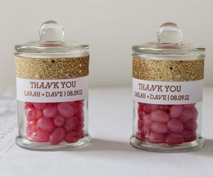 Mini French Apothecary Jar With Jelly Beans Wedding Favors Thank You Gift