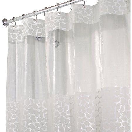 Interdesign Pebblz View Peva Shower Curtain Shower Curtain Decor