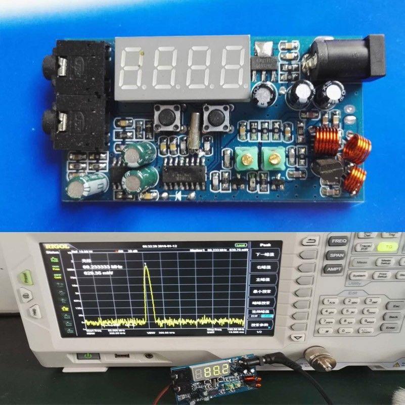 Digital Led Fm Transmitter 76m 108mhz Dc 12v Radio Station 0 5w Pll Stereo Fm Fm Transmitters Radio Station Transmitter