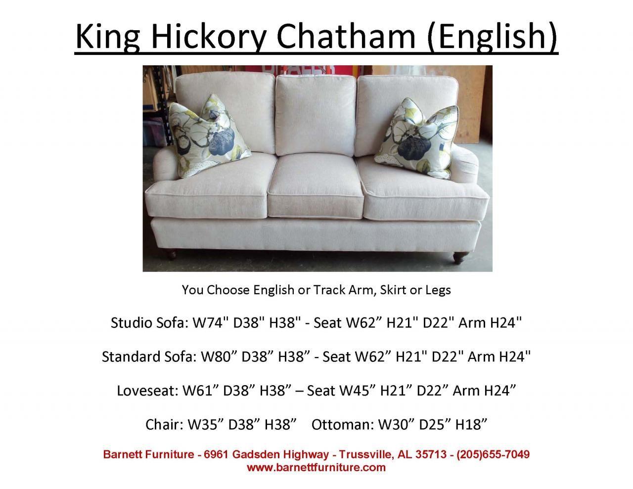 king hickory chatham sofa english arm turned leg you. Black Bedroom Furniture Sets. Home Design Ideas