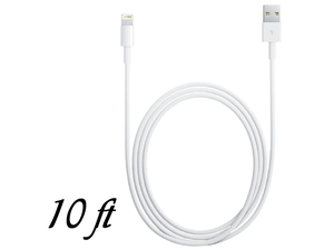 8 Pin to USB 10 ft Data Cable Charger for iPhone 5 iPod