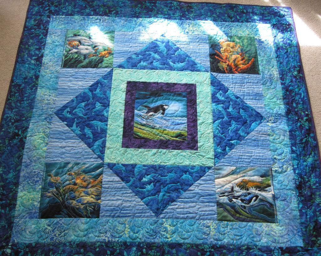 Ocean Panels Quilt | Panel quilts, Patterns and Fish quilt : quilt patterns panels - Adamdwight.com