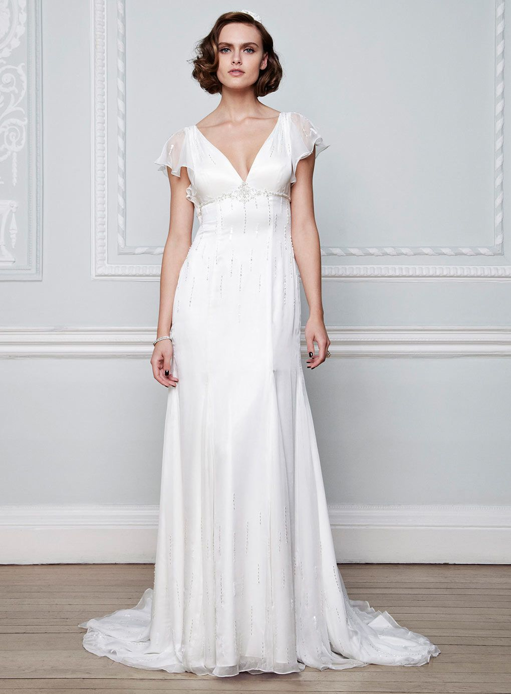 Chiffon wedding dress chiffon wedding dress pinterest bridal lillian vintage chiffon ivory bridal dress wedding dresses the bride wedding bhs ombrellifo Gallery