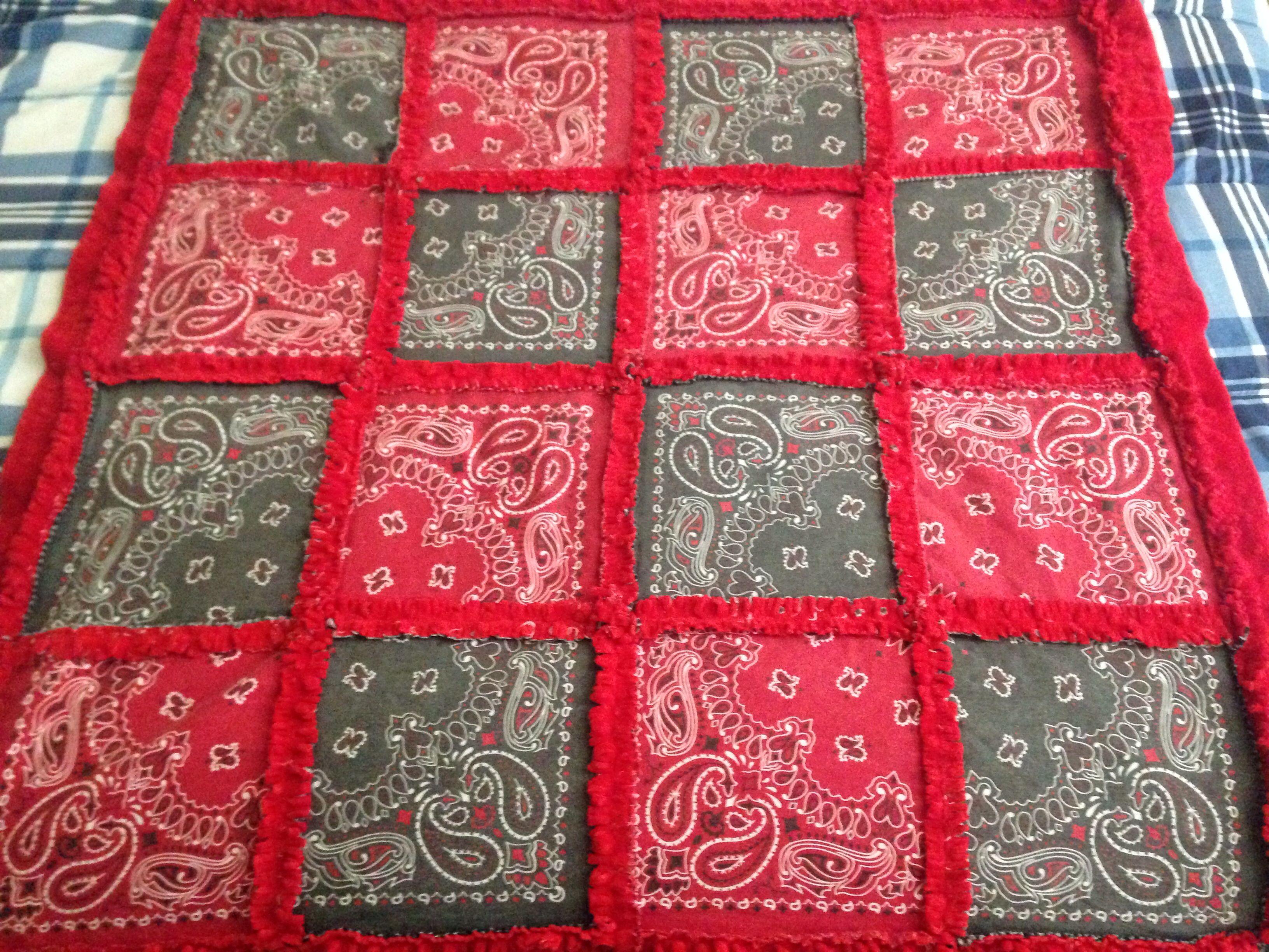Bandana Rag Quilt w/ Way Soft Backing | Things I\'ve Made | Pinterest