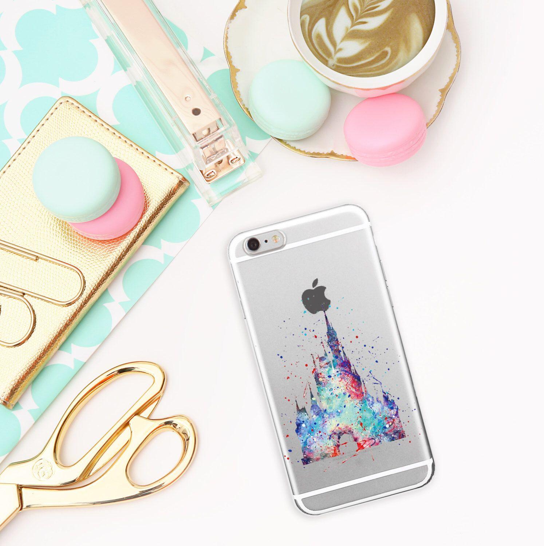 Disney Schloss Transparent Handyhülle für iPhone und Samsung ...