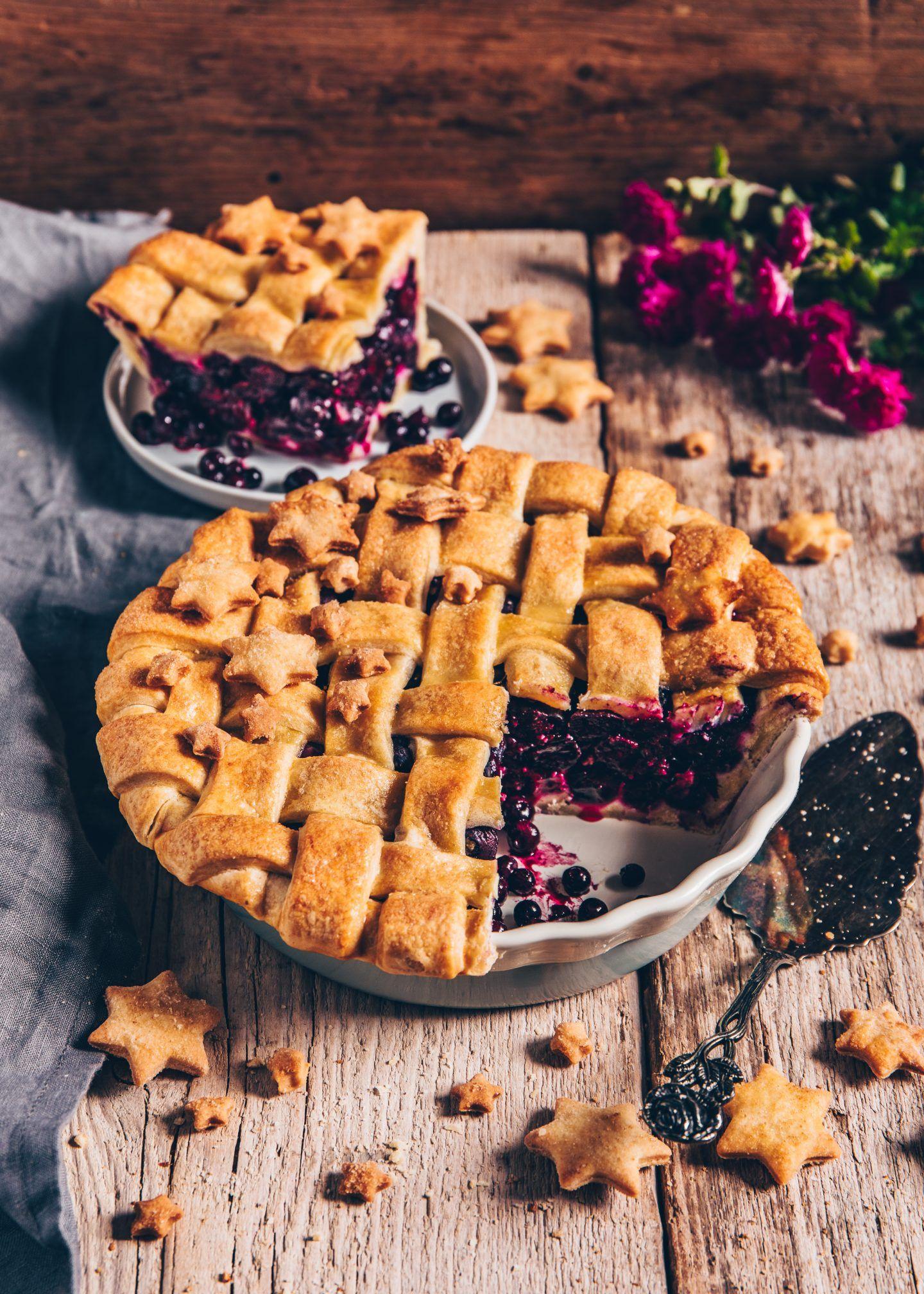 Blueberry Pie (Blaubeerkuchen) | vegan, einfach - Bianca Zapatka | Rezepte