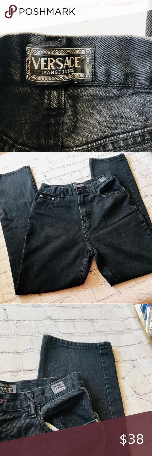 Versace Jeans Couture Distressed Black Denim 30 Denim Design Black Denim Versace Jeans Couture