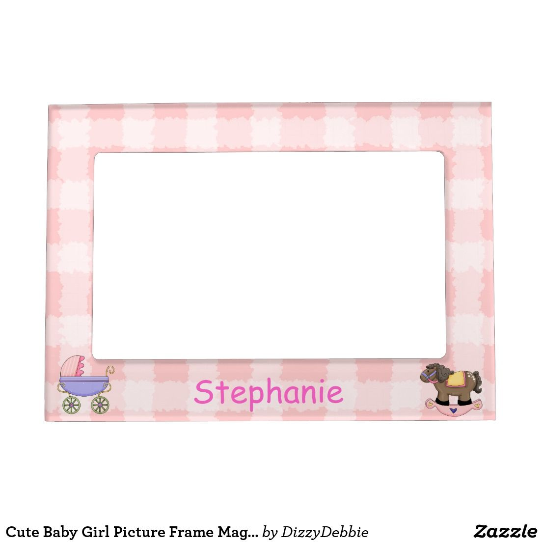 Cute Baby Girl Picture Frame Magnet Baby Picture Frames