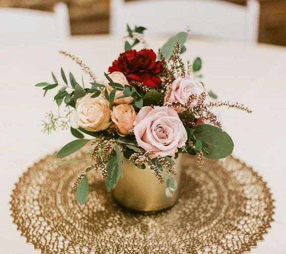 Simple Gold Wedding Decorations: Simple Stunning Gold Centerpiece,Simple Wedding