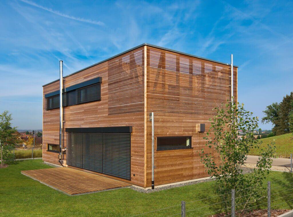 Architektenhaus Holz Haus Frey_Baufritz Einfamilienhaus