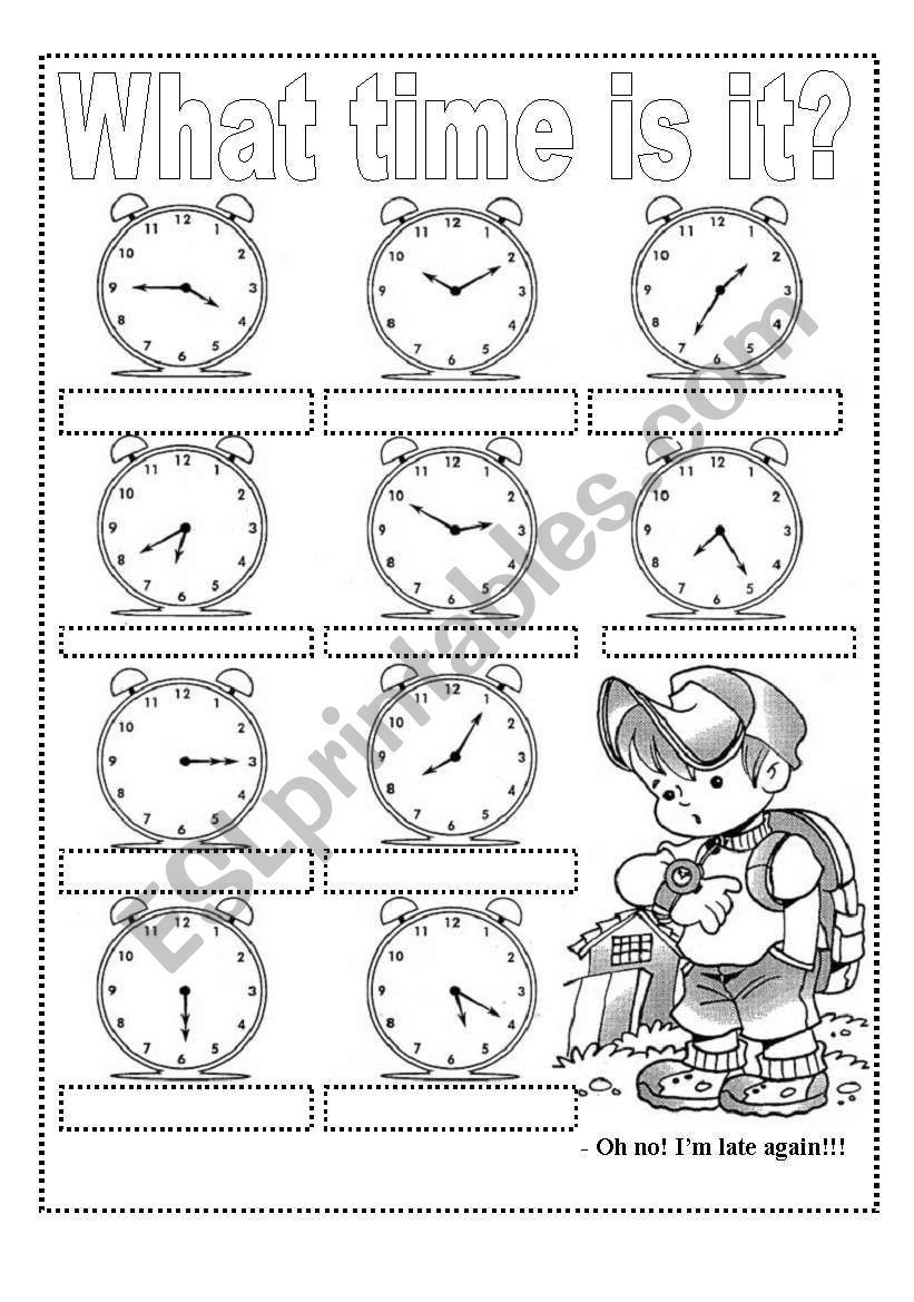 WHAT TIME IS IT? Exercises and Craft Clock (2 pags