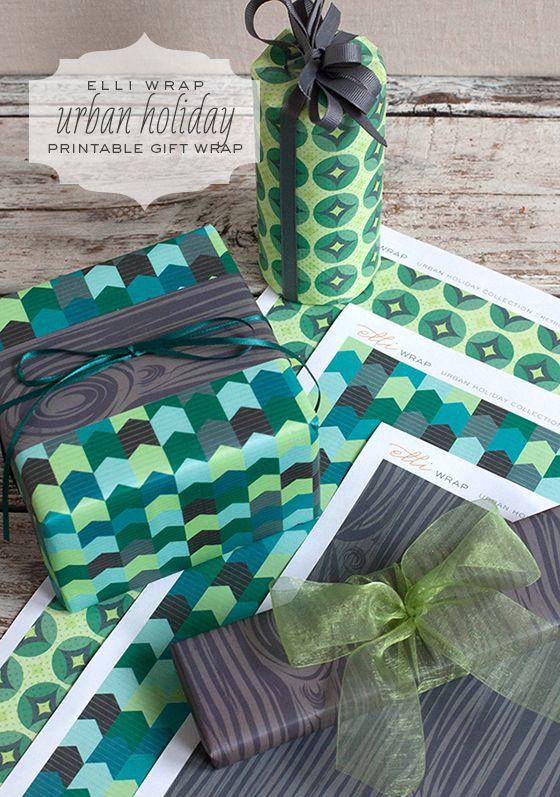 Elli Wrap: Urban Holiday Printable Gift Wrap