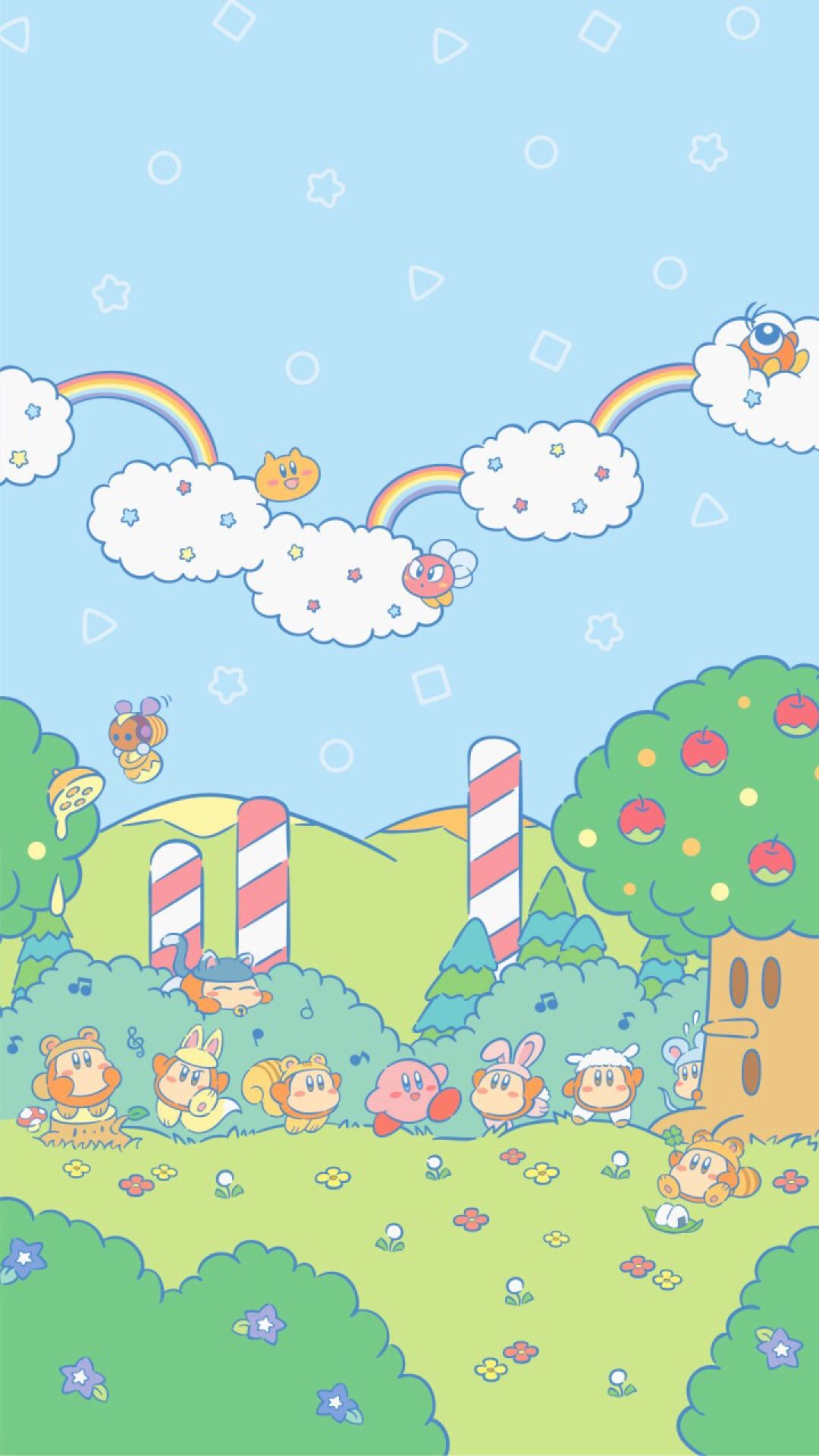 Atokyojourney New Kirby Wallpapers Released On Nintendos Line 3