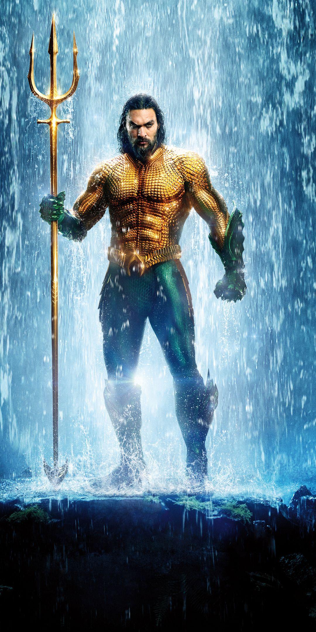 Aquaman jason momoa poster 2018 1080x2160 wallpaper - Movie poster wallpaper ...
